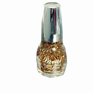 Laval Crystal Finish Nail Polish Sunset Glitter