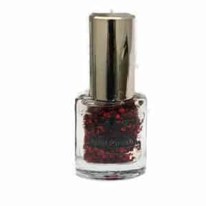Saffron Nail Polish 72 Red Glitter
